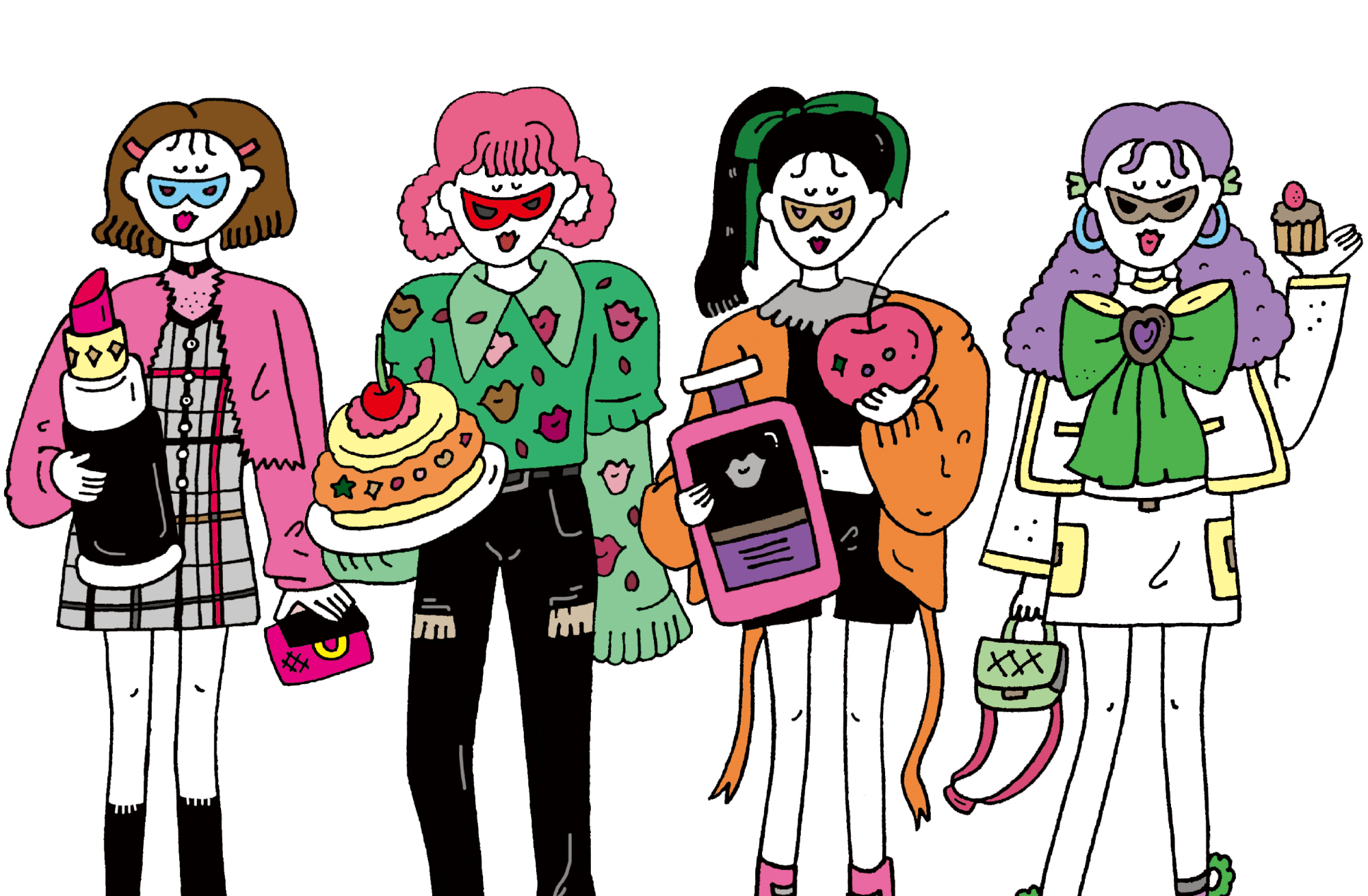 Four girls with their favorites